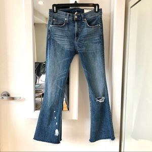 Rag & Bone High Waist Crop Flare Jeans 27